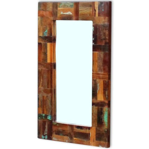 "vidaXL Mirror Solid Reclaimed Wood 31.5""x19.7"" - multi-color"