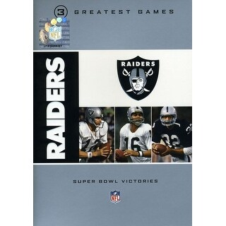 Oakland Raiders 3 Greatest Games: Super Bowl Victo [DVD]