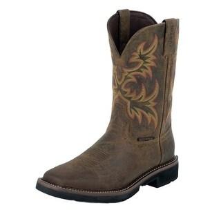 Justin Work Boots Mens Stampede Waterproof Steel Toe Tan WK4690