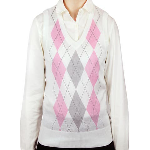 Ladies Argyle Sweater Vest (LSV-159)