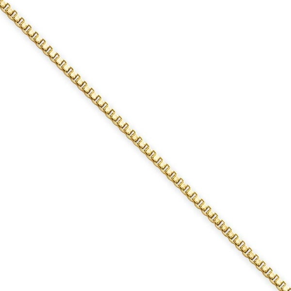 Stainless Steel IP Gold-plated 1.5mm 20in Box Chain (1.5 mm) - 20 in
