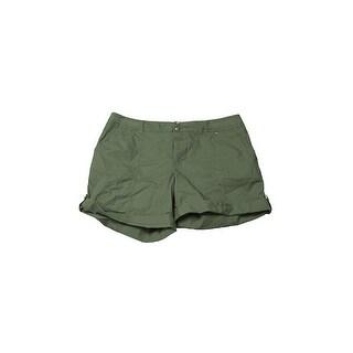Inc International Concepts Green Cuffed Twill Shorts 4