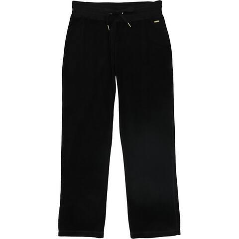 Calvin Klein Womens Velour Casual Lounge Pants