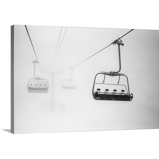 """Chairlift in the fog"" Canvas Wall Art"