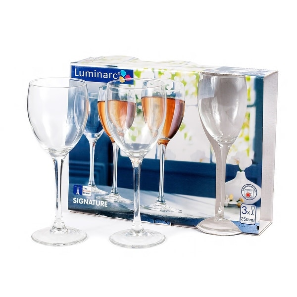 Luminarc Signature Wine Glasses Set of 3. Opens flyout.