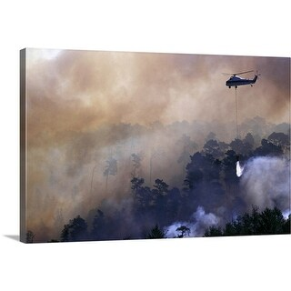 """""""Helicopter fighting firestorm"""" Canvas Wall Art"""
