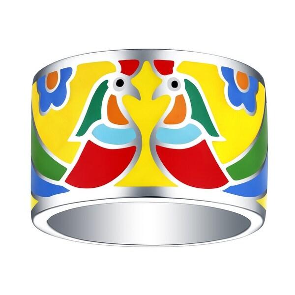 Vedantti Madhubani Art Peacock Multi Color Enamel Band