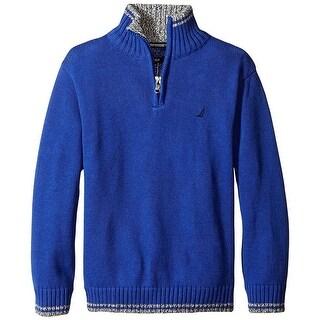 Nautica Little Boys' 4-7X Quarter Zip Neck Sweater