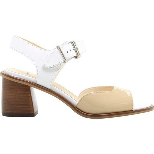 57c14fb156d8f Jil Sander Navy Women  x27 s Giamacia City Sandal Vanilla Beige Goat Leather