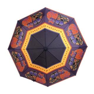Laurel Burch `Feline Family Portrait` Compact Umbrella