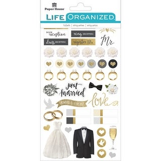 """Paper House Life Organized Planner Stickers 4.5""""X7.5"""" 4/Pkg-Always & Forever Wedding"""