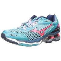 Mizuno Women's Wave Creation 18 Running Shoe, Capri-Pink, 7 B US