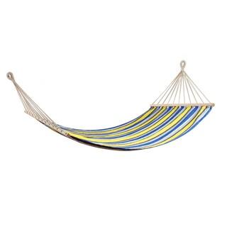 Swan Comfort Extra Heavy Duty Swing Cotton Hammock (Option: Yellow/Grey - 200x100 cm)