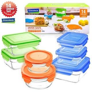 Glasslock 14 Piece Oven Safe Food Storage Container Set