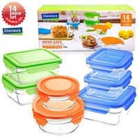 Glasslock 14 Piece Oven Safe Food Storage Container Set