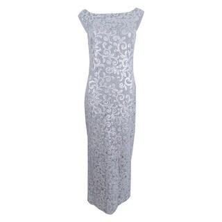 Lauren Ralph Lauren Women\u0027s Sequined V- Back Gown - Silver