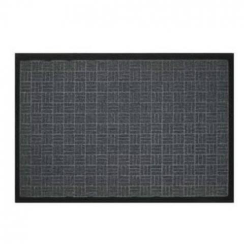 """Bacova 05705 Floor Saver II Jumbo Mat with Rubber Backing, Gray, 24"""" x 36"""""""