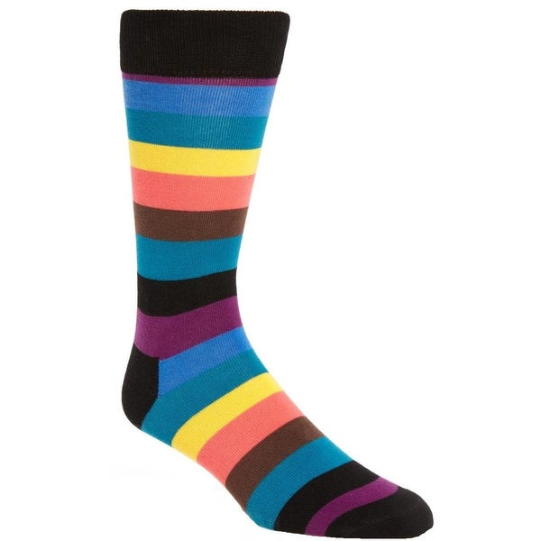 Happy Socks Mens Crew Socks Knit Striped - 9-11