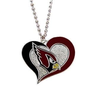 Arizona Cardinals NFL Swirl Heart Necklace