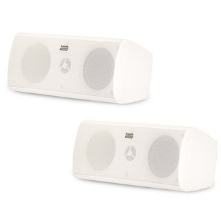 Acoustic Audio AA35CW Indoor 3 Way Speaker Pair 800W White Bookshelf AA35CW-PR