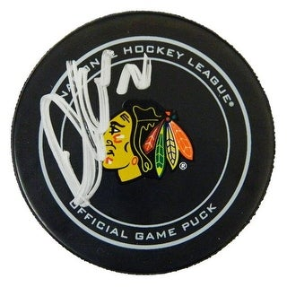 Duncan Keith Signed Chicago Blackhawks Logo Official Game Hockey