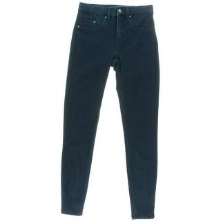 Spanx Womens The Slim-X Mid-Rise Indigo Rinse Skinny Jeans