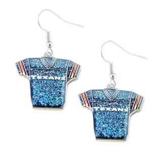NFL Houston Texans Glitter Jerseys Sparkle Dangle Logo Earring Set Charm Gift