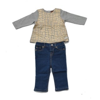 Two Piece Shirt And Jeans Set For Girls