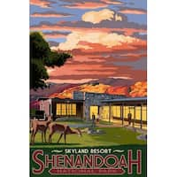Shenandoah Park, VA - Skyland Resort - LP Artwork (100% Cotton Towel Absorbent)