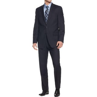 Calvin Klein Mens Two-Button Suit Wool Slim Fit