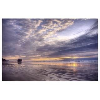 """Pacific ocean sunset, Cannon Beach, Oregon"" Poster Print"