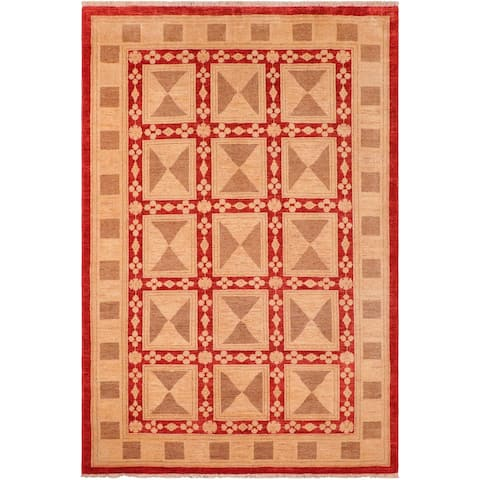 """Shabby Chic Ziegler So Hand Knotted Area Rug -5'11"""" x 8'10"""" - 5 ft. 11 in. X 8 ft. 10 in."""