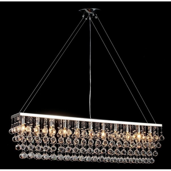 Modern Contemporary*Rain Drop* Crystal Chandelier Lighting With Crystal Lighting Billiard Pool Table With Crystal Balls