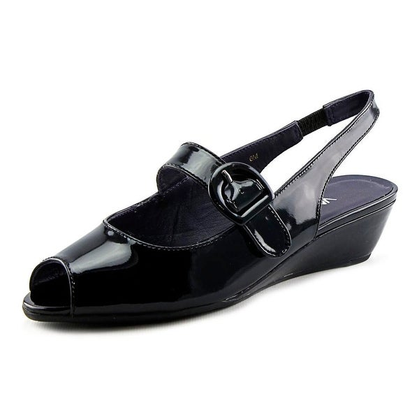 Vaneli Eliza Peep-Toe Synthetic Slingback Heel