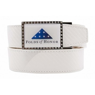 Nexbelt Go In Folds Of Honor Glue Plate With Carbon White Strap Belt