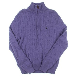 Polo Ralph Lauren Mens Pullover Sweater Cable Knit 1/4 Zip
