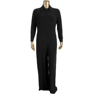 KamaliKulture Womens Long Sleeves Zip Front Jumpsuit - M