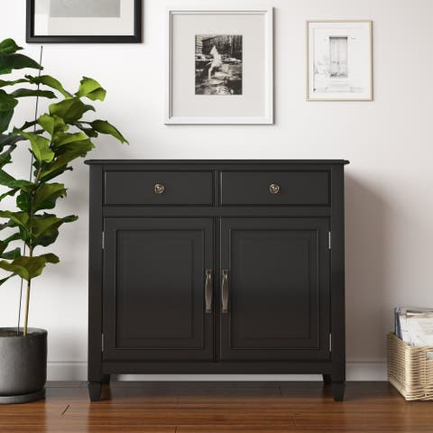 "Hampshire SOLID WOOD 40 inch Wide Traditional Entryway Storage Cabinet - 40""w x 15""d x 36"" h"