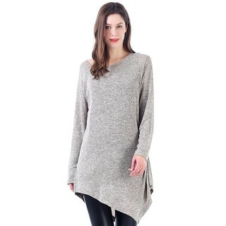 Mad Style Twist French Terry Long Pullover (Option: Grey)