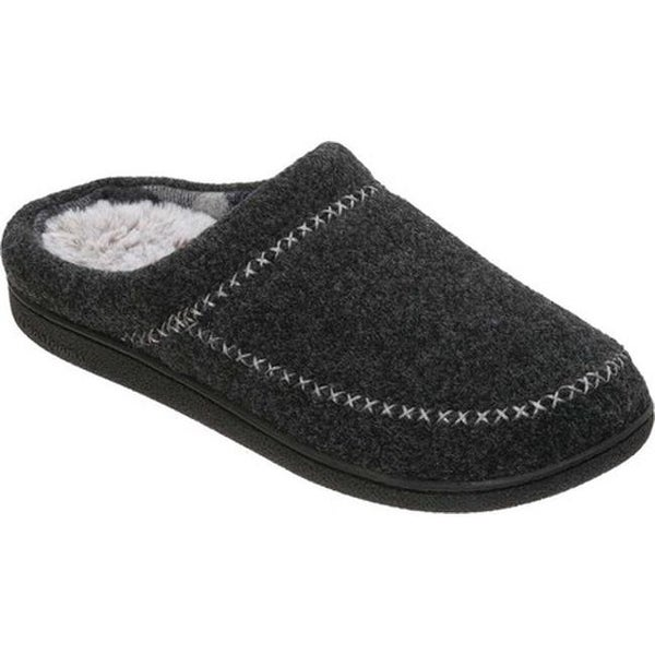 37bc3deb25169 Shop Dearfoams Women's Felt X-Stitch Clog Black Polyester - On Sale ...