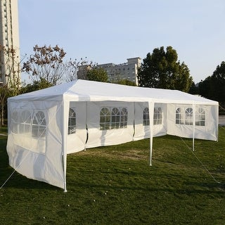 Costway 10u0027x30u0027 Party Wedding Outdoor Patio Tent Canopy Heavy duty Gazebo Pavilion Event : tent with canopy - memphite.com