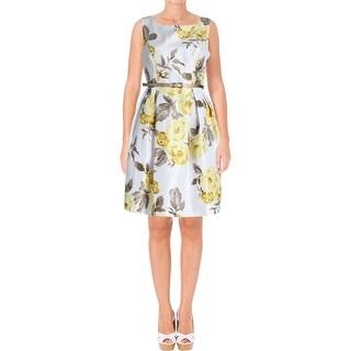 Jessica Howard Womens Petites Sundress Floral Print Sleeveless - 6P
