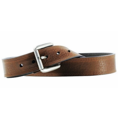 Ariat Western Belt Mens Work Triple Stitch Bark Sunshine