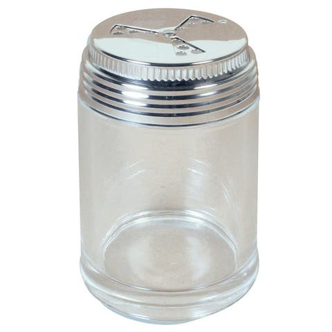 Herb & Spice Accessories 3-Way Adjustable Glass Shaker with stainless steel lid (1 cup)