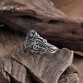 Vienna Jewelry Stainless Steel Hollow Design Ring - Thumbnail 1