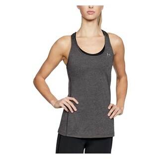 Under Armour Women's HeatGear Armour Racer Tank Top Charcoal Light Heather M