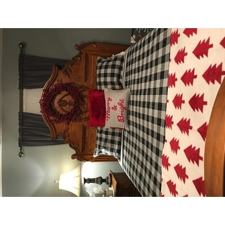 Woolrich Buffalo Check Gray Year Round Oversized Cotton Printed Quilt 3-Piece Set