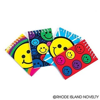 12 Smile / Smiley Face Spiral Note Pads New Notebooks, Smile Face