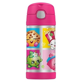 Thermos FUNtainer Shopkins Sports Bottle, Pink, 12 Ounces