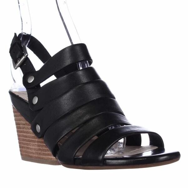 Naya Lassie Strappy Casual Wedge Sandals, Black